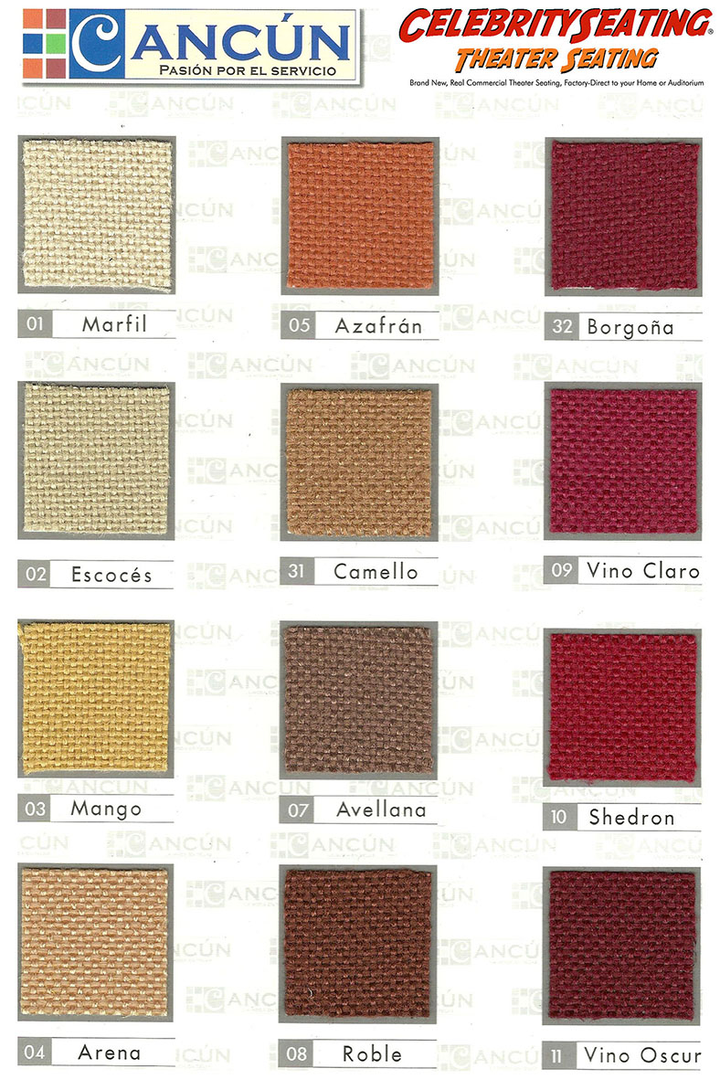 home theater seating fabric cancun