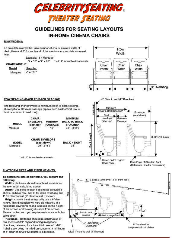 how to tools home theater seating layout help from celebrity seating