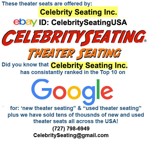 Celebrity Seating used theater seating